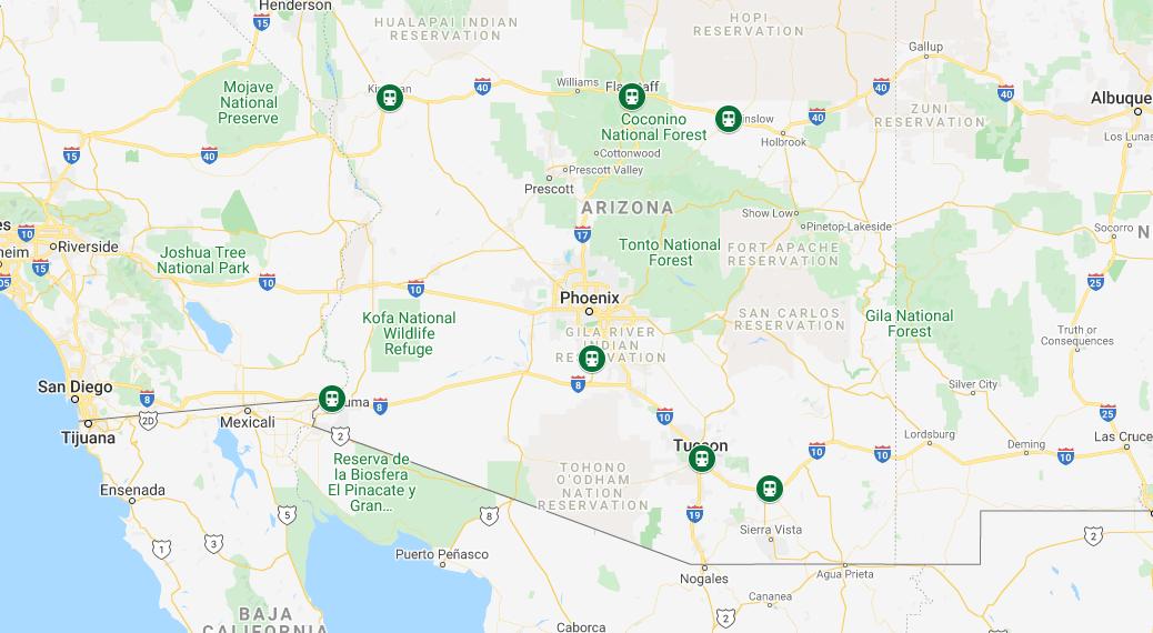 Last Mile Train Station Shuttle Drivers in Arizona