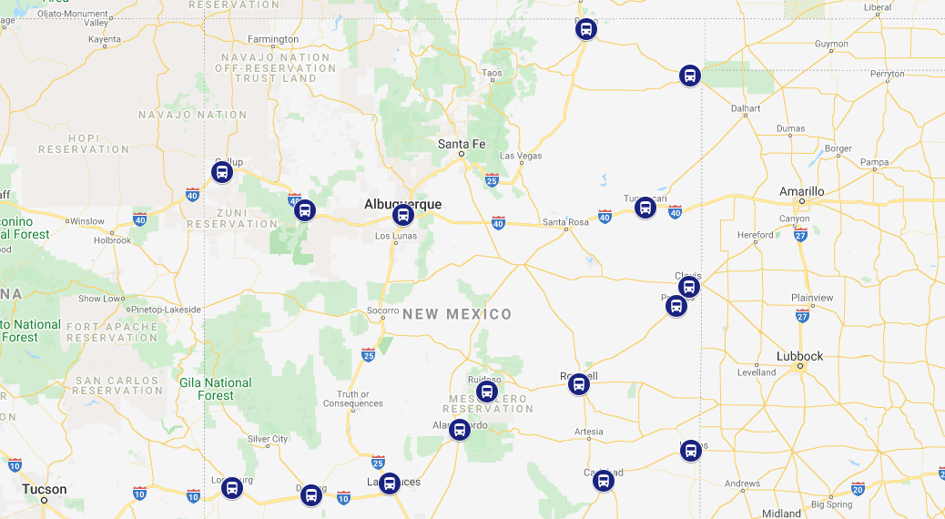 Last Mile Bus Station Shuttle Drivers in New Mexico